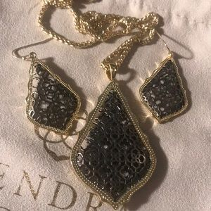 Kendra Scott gold and gunmetal Aiden and Addies